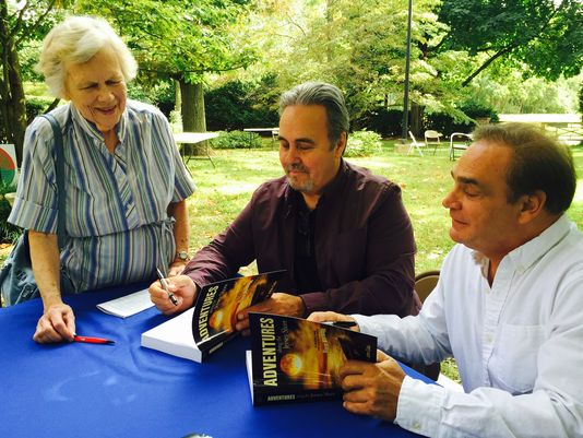 Authors Calu and Hart signing Adventures Along the Jersey Shore